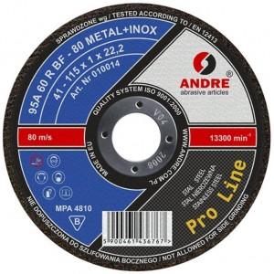 Pjovimo diskelis metalui 125x1.0x22, ProLine+Inox