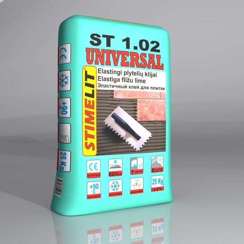 Klijai plytelėms ST1.02 Univer. 25Kg, Stimelit