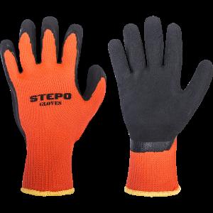 Pirštinės aplietos lateksu Orange-Black, 1 pora