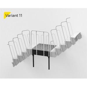 Laiptų aikštelė variantas NR11