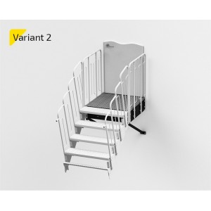 Laiptų aikštelė variantas NR2