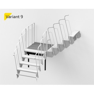 Laiptų aikštelė variantas NR9