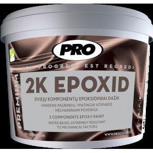 Dviejų komponentų epoksidiniai dažai, PRO 2K EPOXID Šv.pilka 3kg.