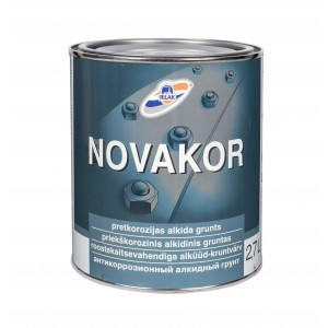 Antikorozinis gruntas Rilak NOVAKOR, 2,7L pilka