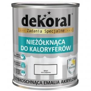 Akrilinė emalė radiatoriams 0,75L balta, DEKORAL