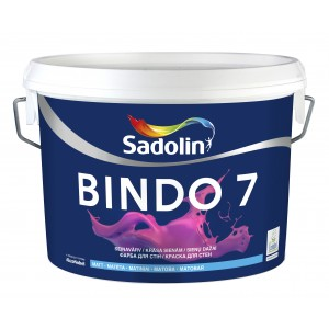 Dažai Sadolin BINDO 7, BW bazė, 5 l