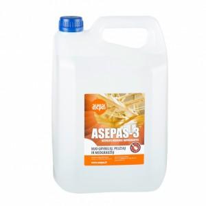 Bespalvis antiseptikas apdailinei medienai, ASEPAS-3 5.0L