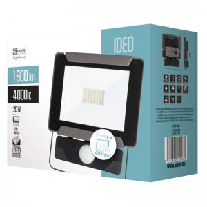 LED prožektorius su judesio davikliu EMOS ZS2721 20W, 80 lm/W, 4000K