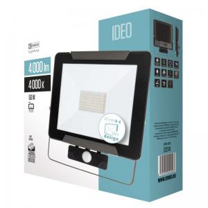 LED prožektorius su judesio davikliu EMOS ZS2741 50W, 80 lm/W, 4000K