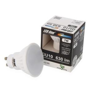 LED lemputė GU10 7W 630lm 2700K LED line