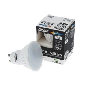 LED lemputė GU10 7W 630lm 4000K LED line