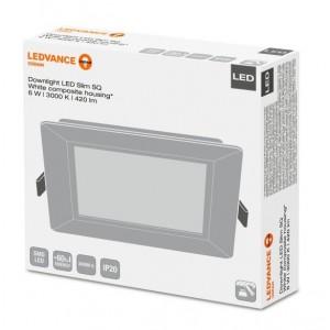 LED šviestuvas įl. kvadratinis Downlight Slim Ledvance 3000K