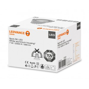 LED šviestuvas įl. Spot 7W/3000K 580lm IP44 Ledvance