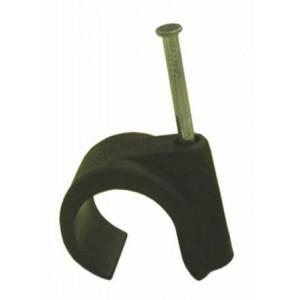 Apkaba 10-14 SCM juoda (apvaliam kabeliui), 1vnt.