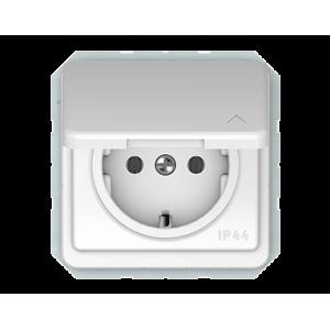 Vilma LX 200 kištukinis lizdas su įžeminimu, su dangteliu IP44 (RP16-003-02 ww)