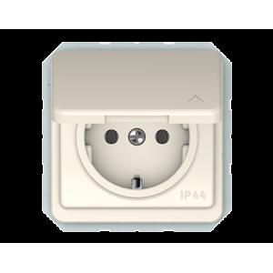 Vilma LX 200 kištukinis lizdas su įžeminimu, su dangteliu IP44 (RP16-003-02 iv)