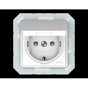 Vilma SL 250 kištukinis lizdas su įžeminimu, su dangteliu IP44 (RP16-003-02 ww)