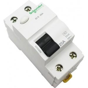 Schneider ACTI9 srovės nuotėkio jungiklis 2P 25A