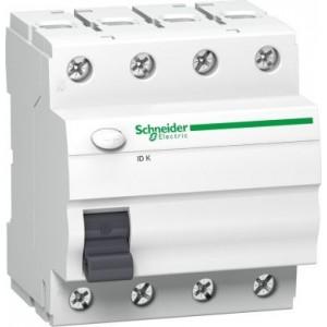 Schneider ACTI9 srovės nuotėkio jungiklis 4P 25A