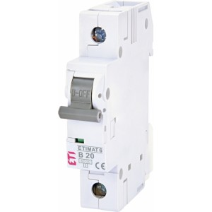 ETI Automatinis jungiklis 1P B20