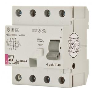 ETI Srovės nuotėkio jungiklis EFI-4 A 80/0.03