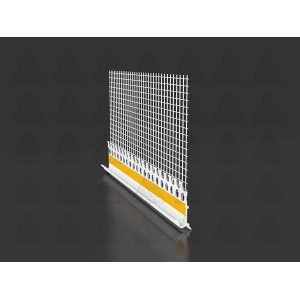 ETICS PVC cokolinis nulašėjimo profilis su tinkleliu ED B05F, 2.5m