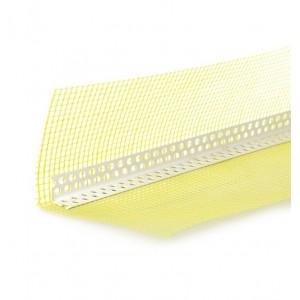 Koelner PVC profilis kampas su tinkleliu 10x15cm, ilgis 2.5m