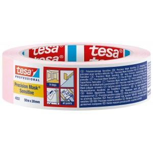 TESA rausva dažymo juosta jautriems pav. ( 4333 PV1 Sensitive ) 50m.