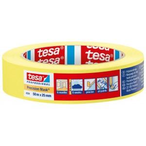 TESA geltona dažymo juosta vidaus ir lauko darbams ( 4334 ) 50m.