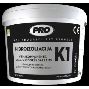 Hidroizoliacinė mastika K1 PRO, juoda