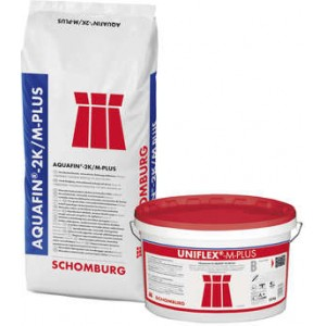 Elastinga mineralinė hidroizoliavimo suspensija AQUAFIN 2K/M Plius 35Kg, SCHOMBURG
