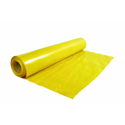 Polietileno plėvelė, geltona 200 mkr. (plotis 2m.)