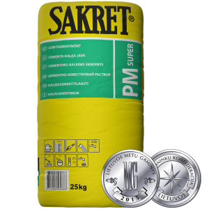 PM Super / Mūro-tinko mišinys (cementinis-kalkinis) 25kg.