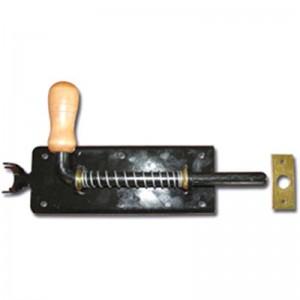 Užšovas su spyruokle su medinė rankena, dažytas 300mm
