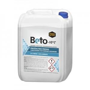 Beto -10⁰C prieššaltinis priedas cementiniams skiediniams